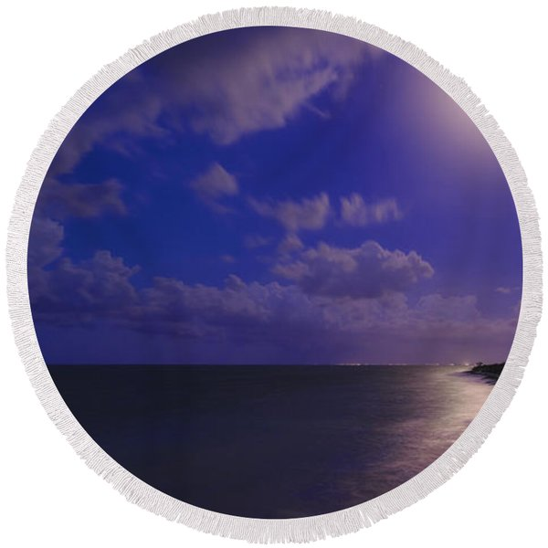 Moonlight Sonata Round Beach Towel