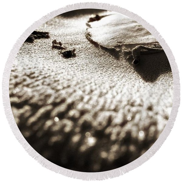 Morning Mushroom Top Round Beach Towel