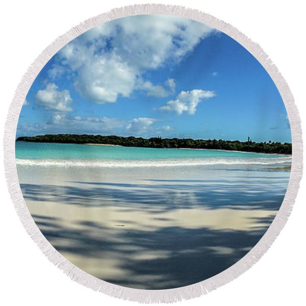 Morning Shadows Ile Des Pins Round Beach Towel