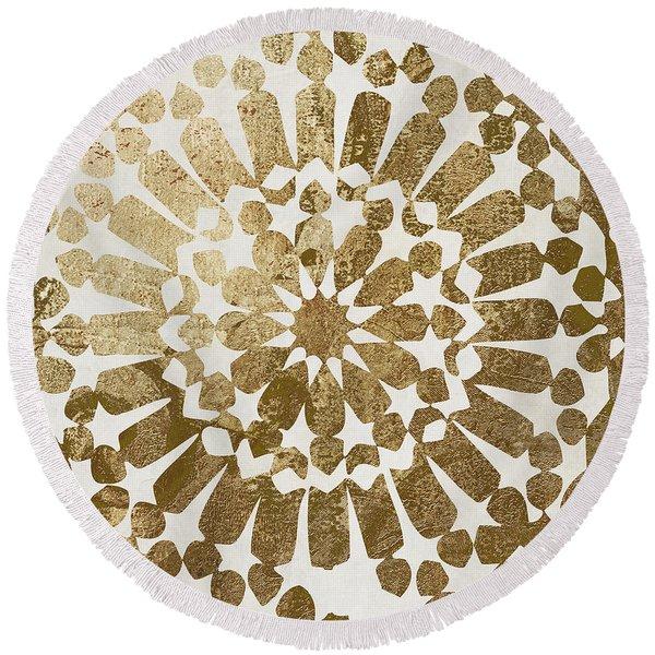 Moroccan Gold II Round Beach Towel