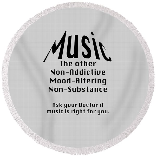 Music Is Right For You 5502.02 Round Beach Towel