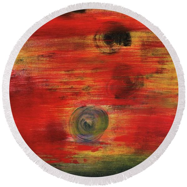 Mystic Moments Round Beach Towel
