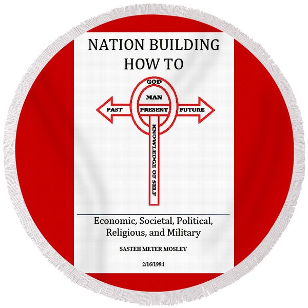 Nation Building How To Book Round Beach Towel