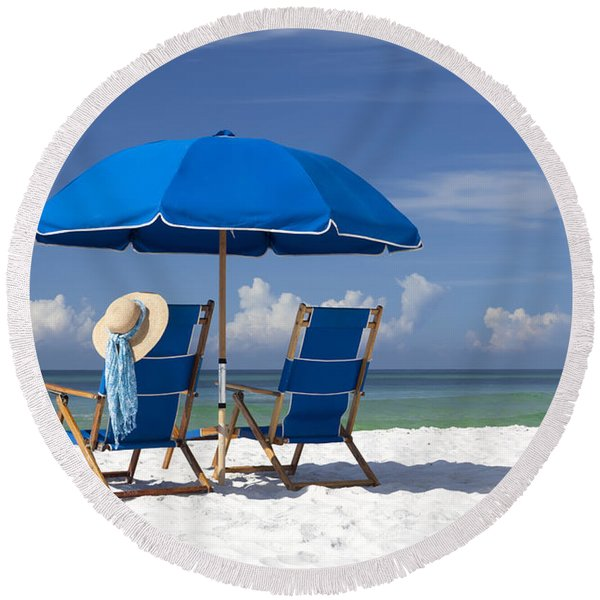 No Worries Round Beach Towel