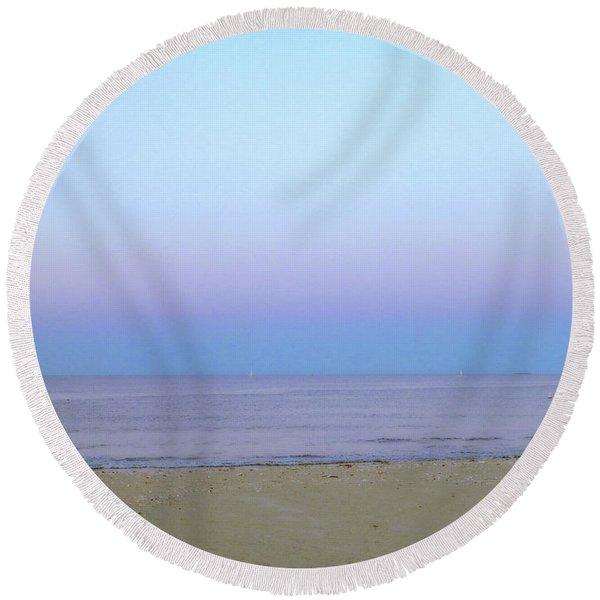 Ocean Sky  Round Beach Towel