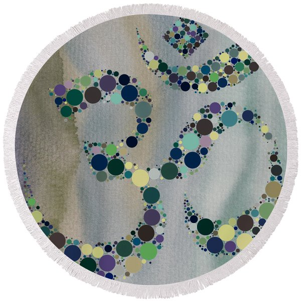 Om Symbol Round Beach Towel