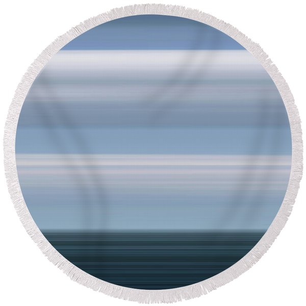 On Sea Round Beach Towel
