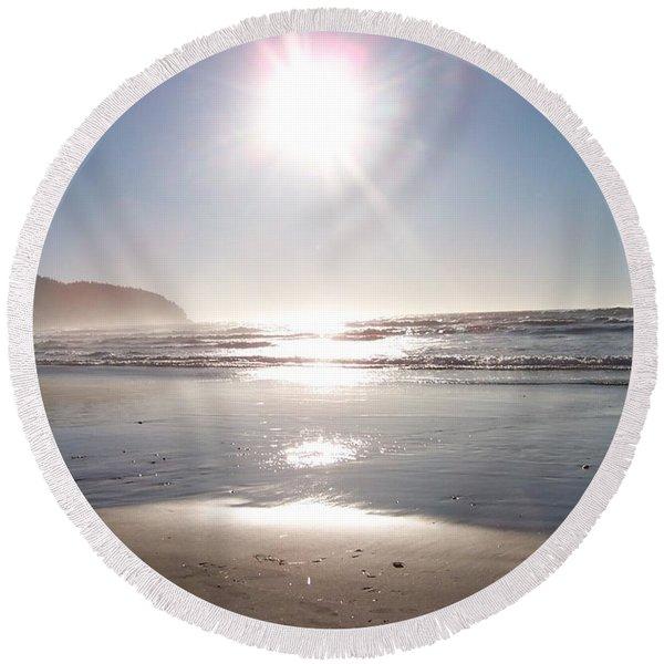Oregon Coast 13 Round Beach Towel