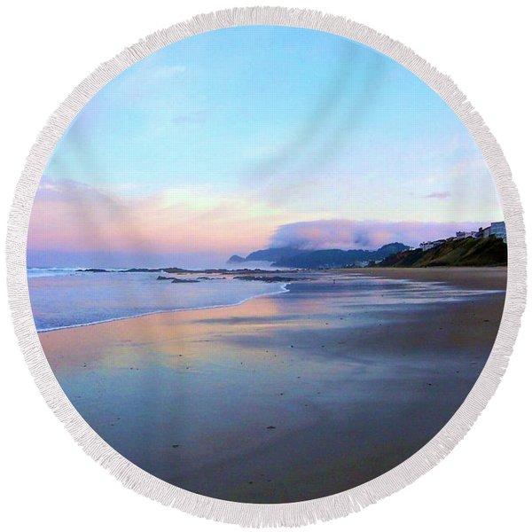 Oregon Coast 4 Round Beach Towel