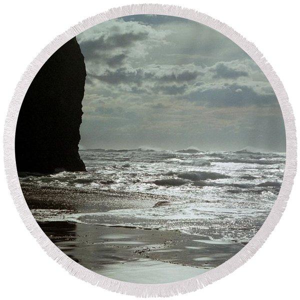 Oregon Coast 5 Round Beach Towel