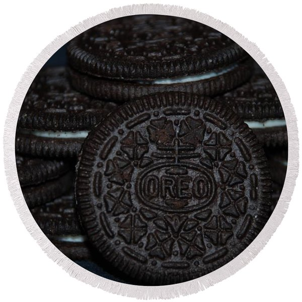 Oreo Cookies Round Beach Towel