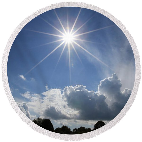 Our Shining Star Round Beach Towel