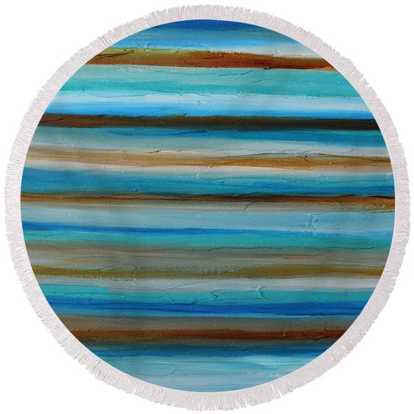 Outstretch 1 Round Beach Towel