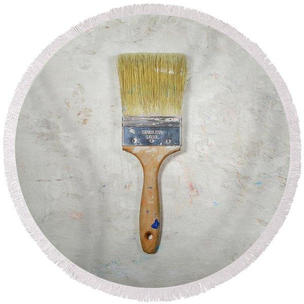 Paint Brush Round Beach Towel