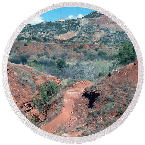 Palo Duro Canyon Round Beach Towel