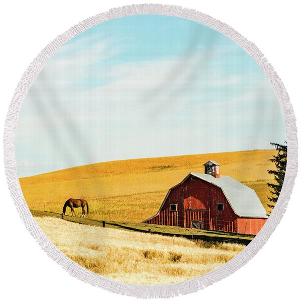 Palouse 16 Round Beach Towel