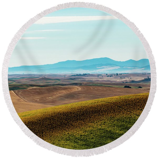Palouse 17 Round Beach Towel