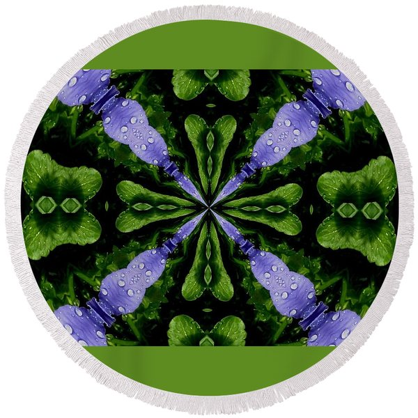Panzymania Round Beach Towel