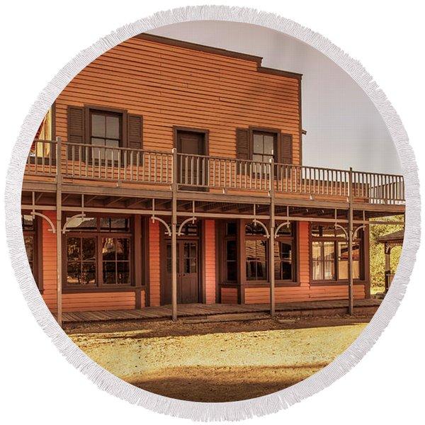 Paramount Ranch Saloon Round Beach Towel