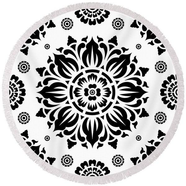 Pattern Art 01-2 Round Beach Towel