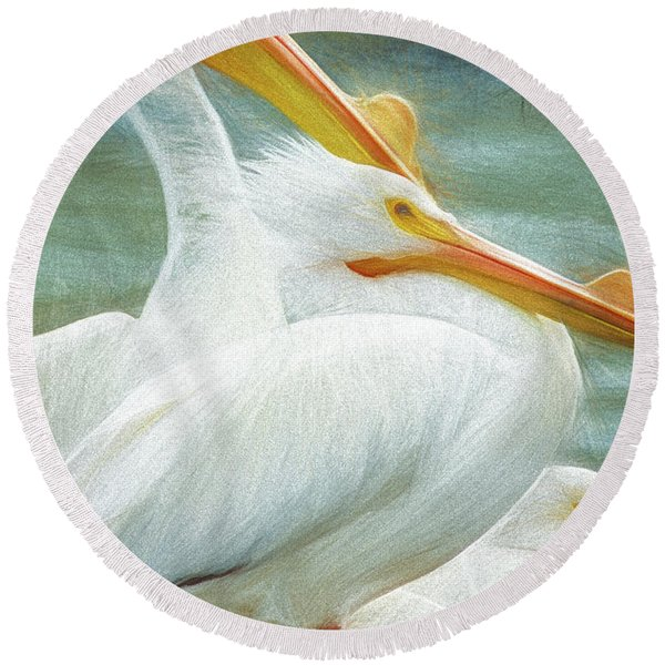 Pelican Three Round Beach Towel