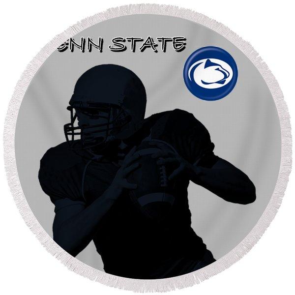 Penn State Football Round Beach Towel