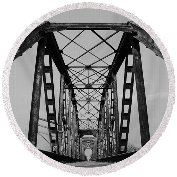 Pennsylvania Steel Co. Railroad Bridge Round Beach Towel