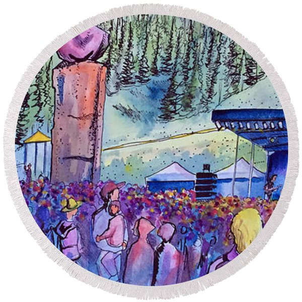 Peter Rowen At Copper Mountain Round Beach Towel