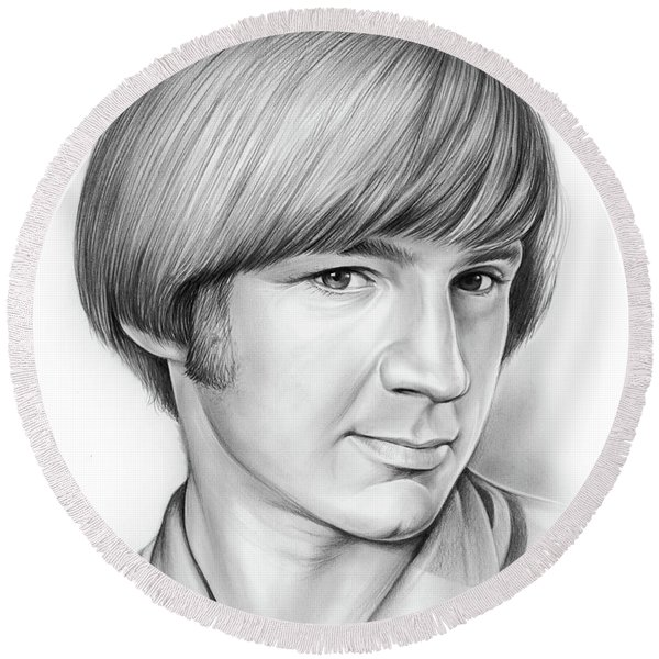 Peter Tork Round Beach Towel
