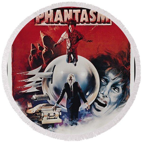 Phantasm Movie Poster Round Beach Towel