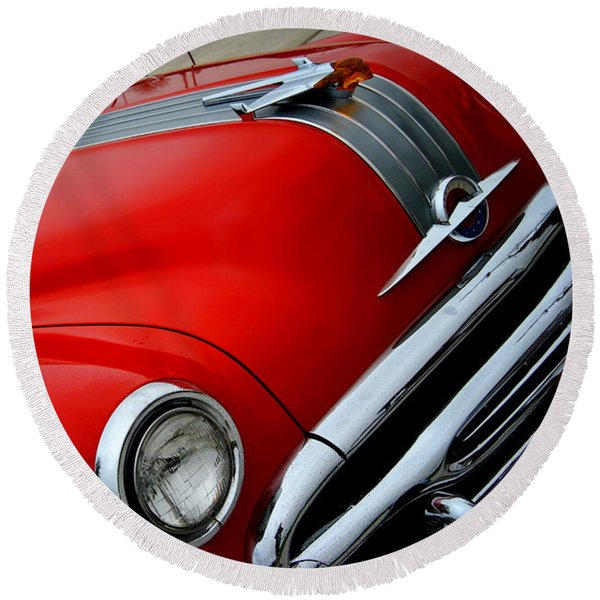 Pontiac Chieftain 1954 Front Round Beach Towel