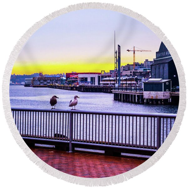 Posted  Round Beach Towel