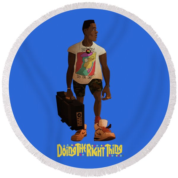 Radio Raheem Round Beach Towel