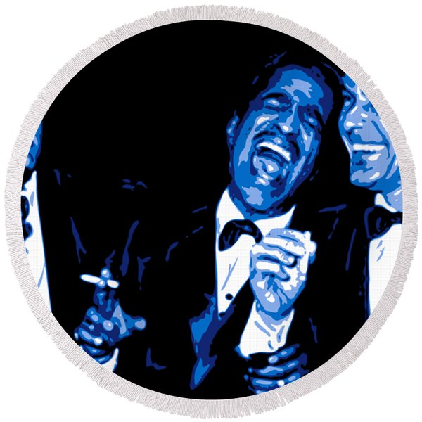 Rat Pack At Carnegie Hall Round Beach Towel