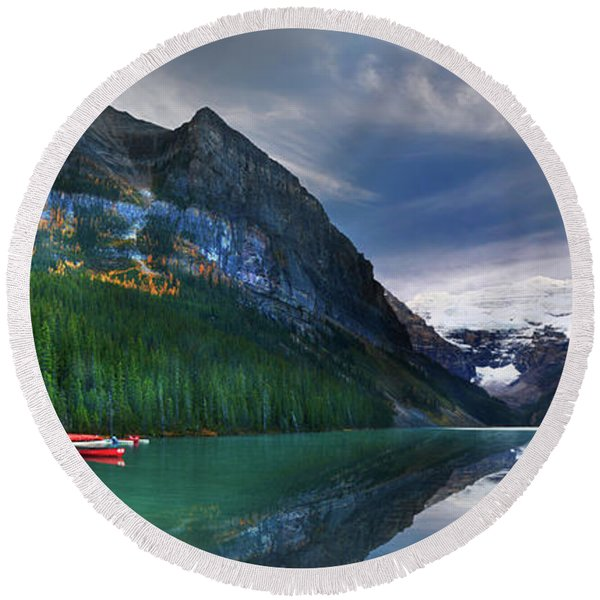Reflections Of Round Beach Towel