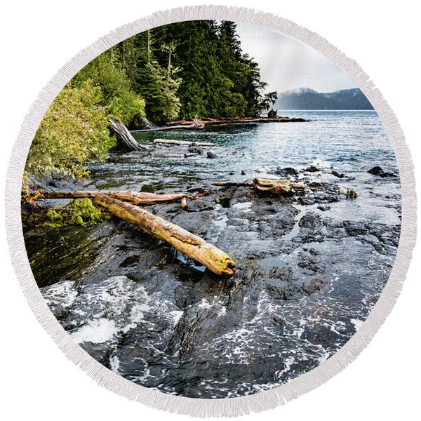 Renfrew Shoreline Round Beach Towel
