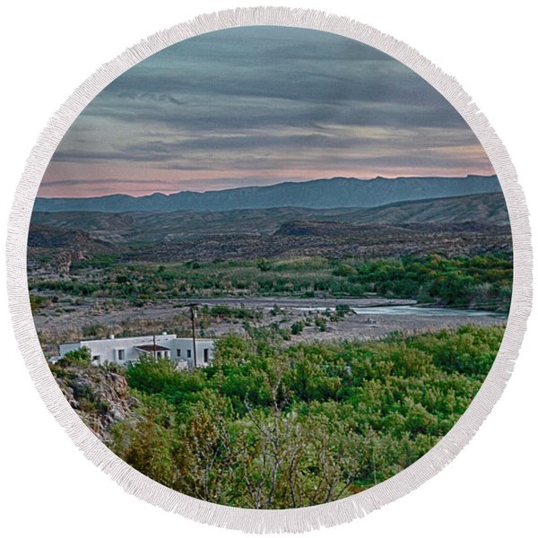 River Overlook Round Beach Towel