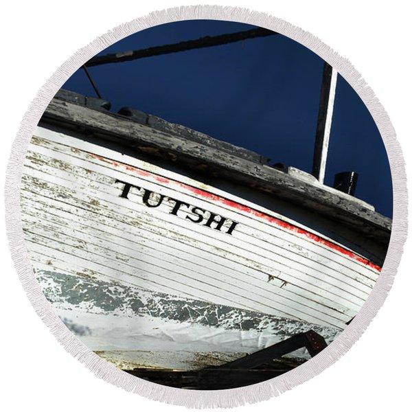 S. S. Tutshi Round Beach Towel