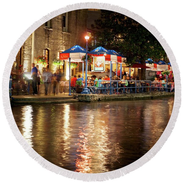 San Antonio River Walk 72516 Round Beach Towel