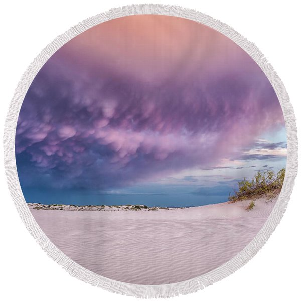 Sand Storm Round Beach Towel