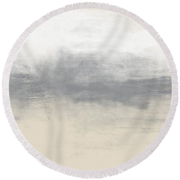 Sand Swept- Abstract Art By Linda Woods Round Beach Towel