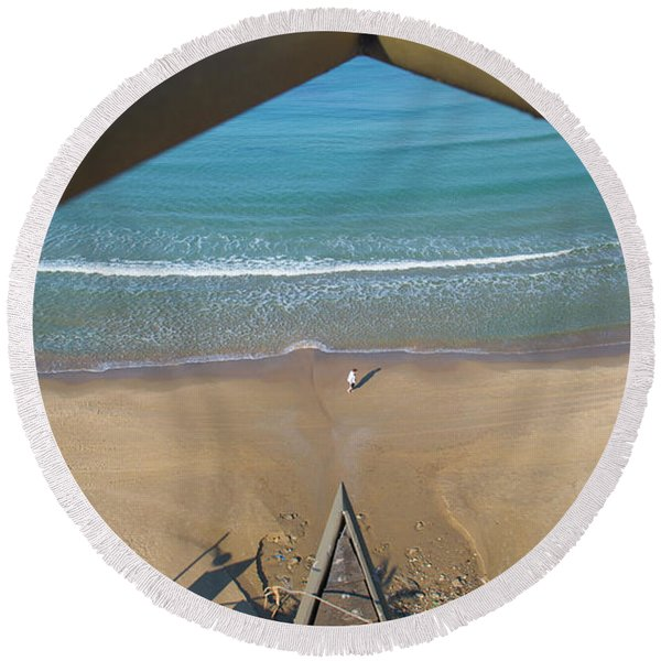 Scapes Of Our Lives #1 Round Beach Towel