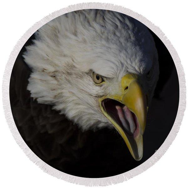 Screaming Eagle Round Beach Towel