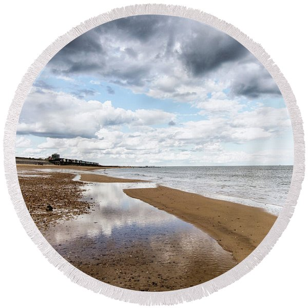 Sea Reflections Round Beach Towel