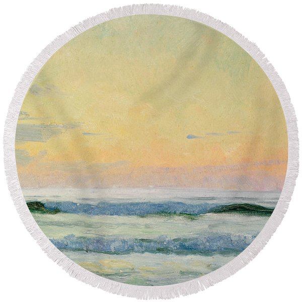 Sea Study Round Beach Towel