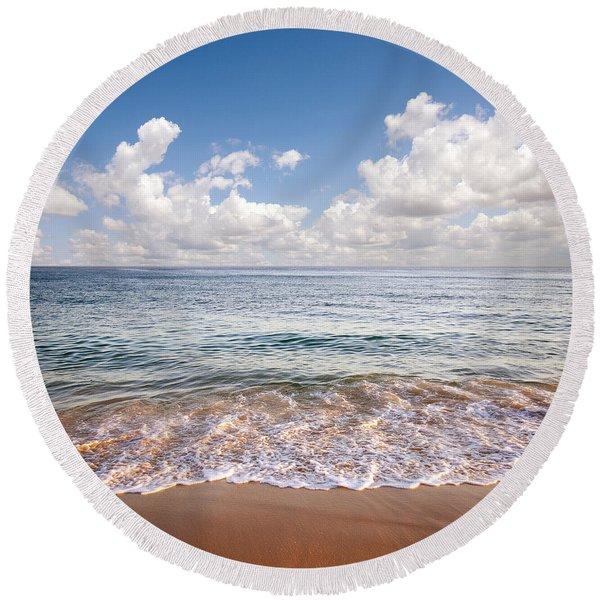 Seascape Round Beach Towel