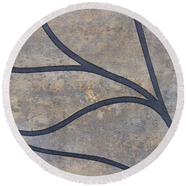 Round Beach Towel featuring the mixed media Ser. 2 #01 by Writermore Arts