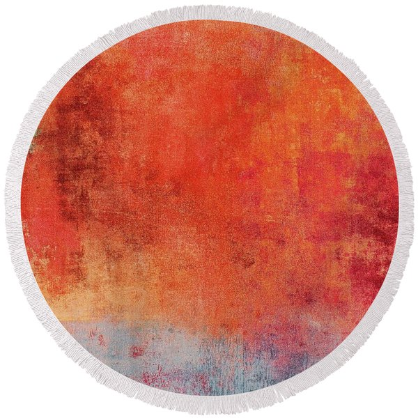 Round Beach Towel featuring the mixed media Ser. One #01 by Writermore Arts