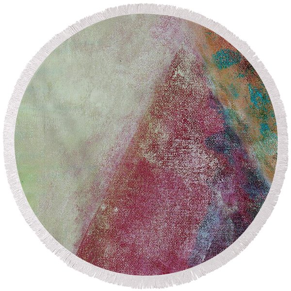 Round Beach Towel featuring the mixed media Ser.1 #08 by Writermore Arts