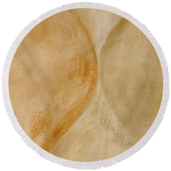 Round Beach Towel featuring the mixed media Ser.2 #10 by Writermore Arts